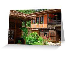 Traditional house in Koprivshtitsa, Bulgaria Greeting Card