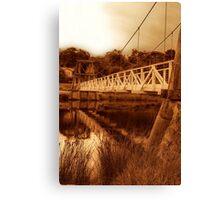 """The Swing Bridge"" Canvas Print"
