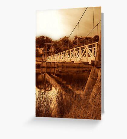 """""""The Swing Bridge"""" Greeting Card"""