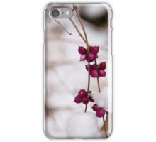 Pink Winter Berries on Snow iPhone Case/Skin