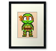 Mikey TMNT 2012 Mini Pixel Framed Print