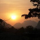 Sunset Vang Vieng by Stangus