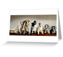 Line Up Greeting Card