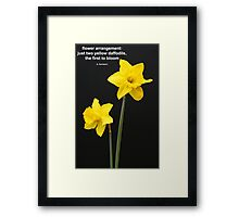 Daffodils Quotation Framed Print