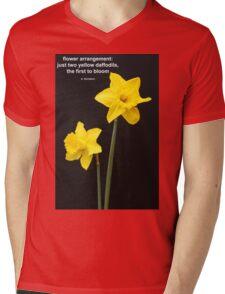 Daffodils Quotation Mens V-Neck T-Shirt