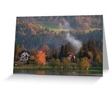 A pretty scene at Lake Bled, Slovenia Greeting Card