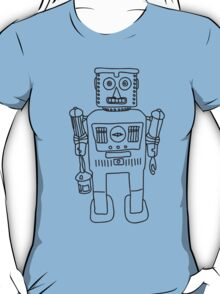 Colour in Robot B/W T-Shirt