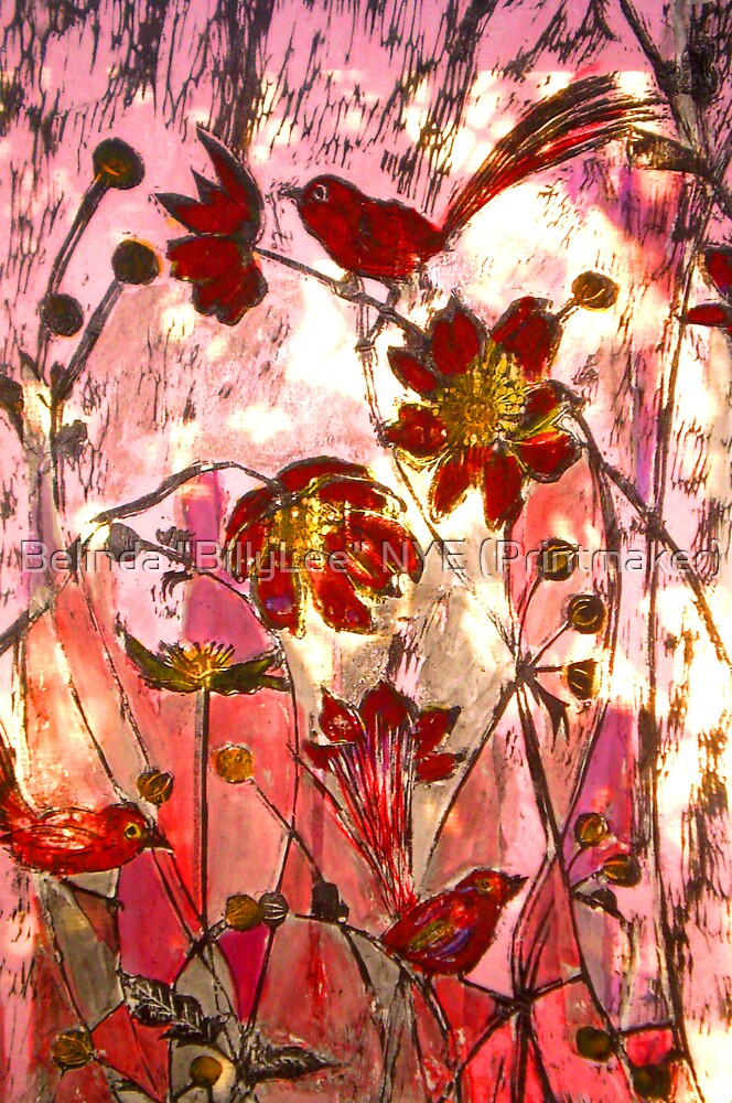 "To My Jade with Love - Chine Colle Print by Belinda ""BillyLee"" NYE (Printmaker)"