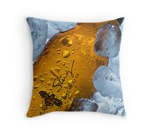 Bee Sting Beer. Throw Pillow