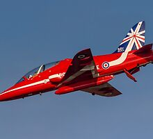 Red Arrows' Hawk T.1A in 50th Season Colours. by Colin Smedley