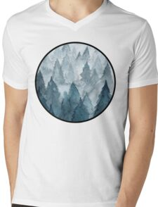 Clear Winter Mens V-Neck T-Shirt