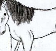 Cute,Horse, Pony, Cardinal,  Sticker