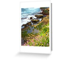 Coloured Moss Greeting Card
