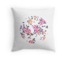 Floral Circle Pillow  Throw Pillow