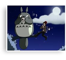 Totoro and the Doctor's Midnight Musicale Canvas Print