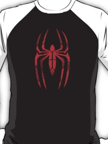 Spider-Man Segmented Logo (Red on Black) T-Shirt