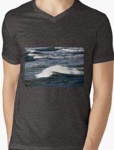 Ocean Waves Mens V-Neck T-Shirt