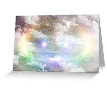 The Angel Spoke to them   /  Jesus is born             ( My Painting / Photography   Greeting Card