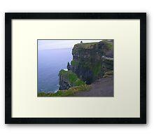 Cliffs on Moher in Ireland Framed Print