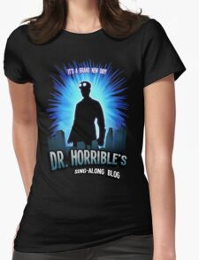 Dr. Horribles sing-along blog  Womens Fitted T-Shirt