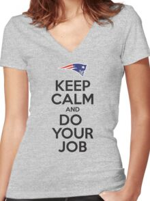 Keep Calm and Do Your Job Women's Fitted V-Neck T-Shirt