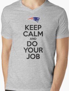 Keep Calm and Do Your Job Mens V-Neck T-Shirt