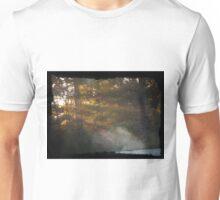 Sunrise through the trees Unisex T-Shirt