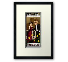 Downton Nouveau Framed Print