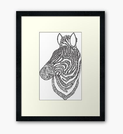 Zebra Ink Framed Print