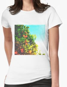 Ohh La La Oranges Womens Fitted T-Shirt