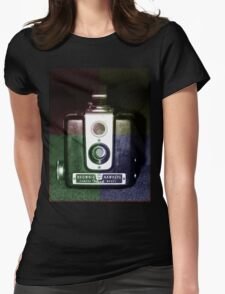 Colorful Brownie Hawkeye Womens Fitted T-Shirt