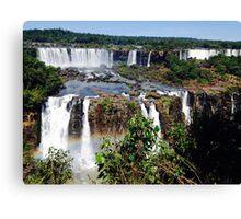 Iguazu Falls in Love Canvas Print