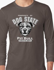 Dog State Pit Bull Long Sleeve T-Shirt