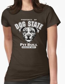 Dog State Pit Bull Womens Fitted T-Shirt