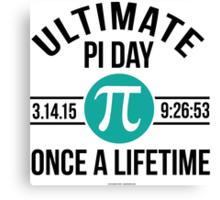 Ultimate Pi Day 2015 Aqua Canvas Print