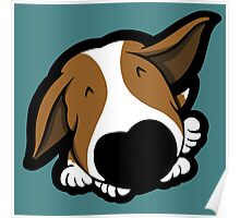 Big Nose Bull Terrier Puppy Poster