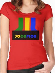 SCORPION (atari style)  Women's Fitted Scoop T-Shirt