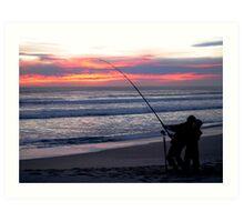 Dad's Fishing Helper Art Print