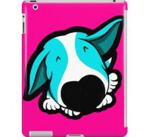Big Nose Bull Terrier Puppy Aqua iPad Case/Skin