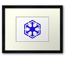 Imperial Crest Blue Framed Print