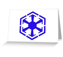 Imperial Crest Blue Greeting Card