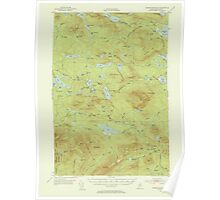 Maine USGS Historical Map Jo Mary Mountain 306613 1952 62500 Poster