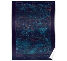 Maine USGS Historical Map Jo Mary Mountain 306614 1952 62500 Inversion Poster
