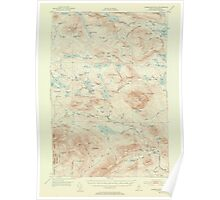 Maine USGS Historical Map Jo Mary Mountain 306614 1952 62500 Poster