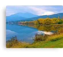 Autumn, Pondage, Mt Beauty, Victoria. Canvas Print
