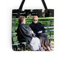 Meeting friends at the park Tote Bag