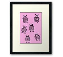 Pink Robots Framed Print
