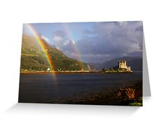 Rainbow Castle Greeting Card
