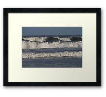A set of Waves Framed Print