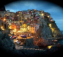 Manarola Nights by Gillian  Ford